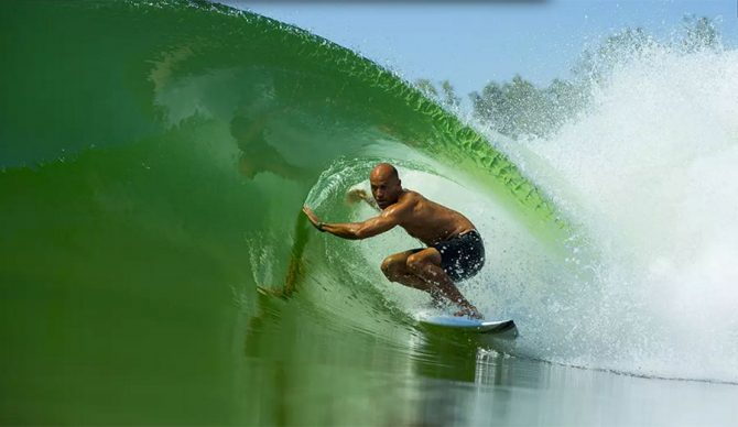 Kelly Slater's wave has been the talk of the surf world since Adriano de Souza won his first world title.